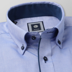 Classic shirt with dark blue contrast elements (height 176-182 and 188-194) 11070