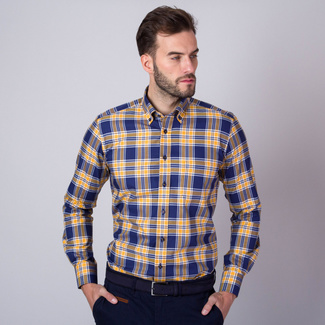 Classic shirt with check pattern (height 176-182 and 188-194) 11072