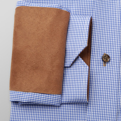 Slim Fit shirt with brown contrast elements (height 176-182) 11094, Willsoor