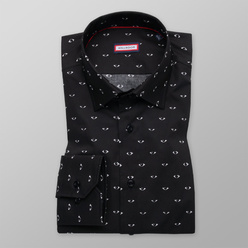 Slim Fit shirt with white contrast print  (height 176-182) 11096, Willsoor