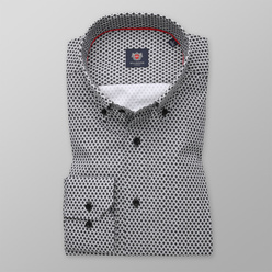 London shirt with fine black and white pattern (height 176-182 and 188-194) 11098, Willsoor
