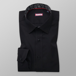 Slim Fit shirt in black color (height 176-182 and 188-194) 11106