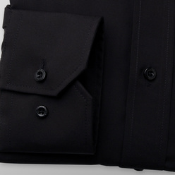 Slim Fit shirt in black color (height 176-182 and 188-194) 11106, Willsoor