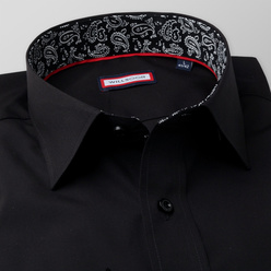 Classic shirt in black color (height 176-182 a 188-194) 11107, Willsoor