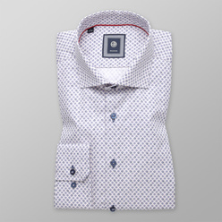 Slim Fit shirt with floral print (height 176-182) 11108, Willsoor