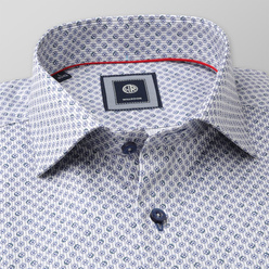 Slim fit shirt with fine grey strips (height 176-182 and 188-194) 11110, Willsoor