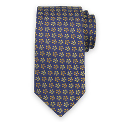 Men's silk tie with yellow floral print 11113