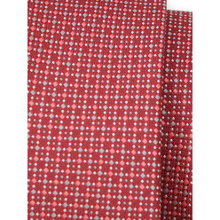Narrow tie in red color with polka dot pattern 11128, Willsoor