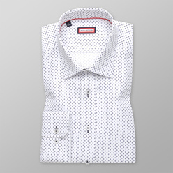 Slim Fit shirt with blue dotted pattern (height 188-194) 11147, Willsoor