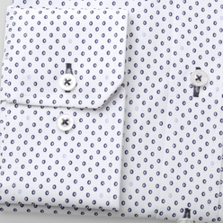Classic shirt with blue dotted pattern (height 188-194) 11148, Willsoor