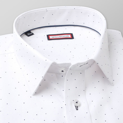 Classic shirt with contrast dotted pattern (height 188-194) 11149, Willsoor