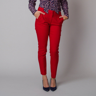 Women's suit trousers in red color 11160, Willsoor