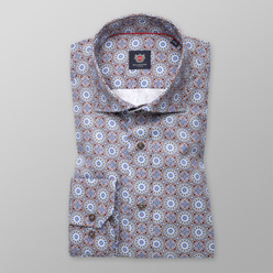 Men's Slim Fit shirt with oriental pattern 11174, Willsoor