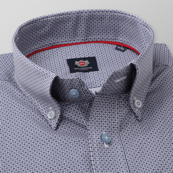 Men's Slim Fit shirt with white check pattern 11176, Willsoor