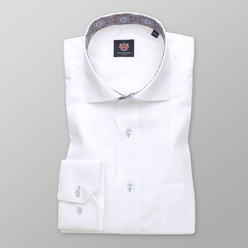Men's classic shirt in white with oriental pattern 11178