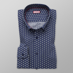 Men's Slim Fit shirt with floral print 11198, Willsoor