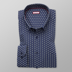 Men's classic shirt with floral print 11199, Willsoor