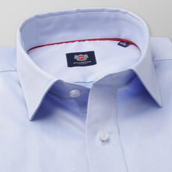 Men's Slim Fit shirt in light blue with smooth pattern 11202