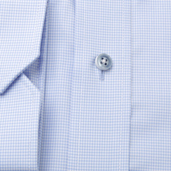 Men's Slim Fit shirt in pale blue with fine pattern 11204, Willsoor