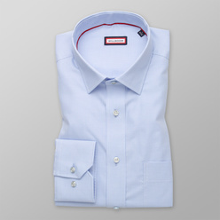 Men's classic shirt in pale blue with fine pattern 11205, Willsoor