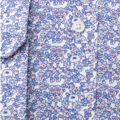 Men's classic shirti with light blue floral pattern 11209