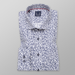 Men's Slim Fit shirt dark blue floral pattern 11210, Willsoor