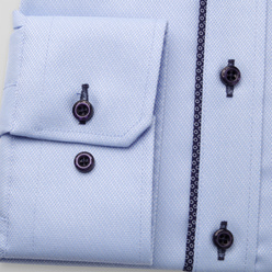 Men's classic shirt in light blue with contrast elements 11234