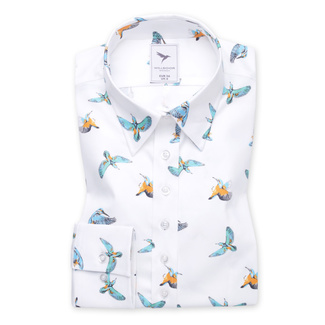 Women's shirt with colorful hummingbirds print 11241