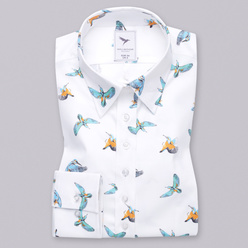 Women's shirt with colorful hummingbirds print 11241, Willsoor