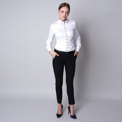 Women's shirt with elements with black-pink pattern 11245, Willsoor