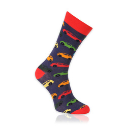 Men's socks with colorful cars pattern 11265, Willsoor