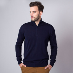 Men's jumper in dark blue color 11267, Willsoor