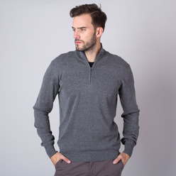 Men's jumper in grey color 11268, Willsoor
