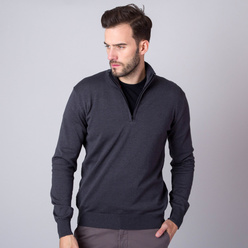 Men's jumper in dark grey color 11269, Willsoor