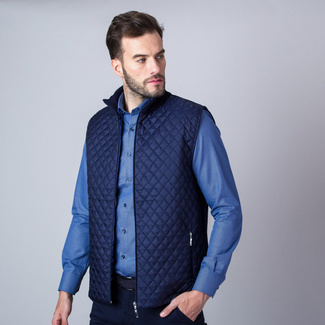 Men's vest with knitted back part 11274