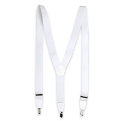 Men's braces in white color 11284, Willsoor