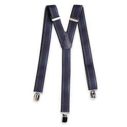 Men's braces with dark blue denim pattern 11296