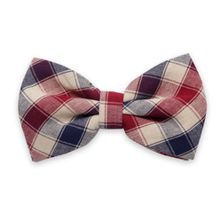 Men's braces in claret and check bow tie 11303, Willsoor