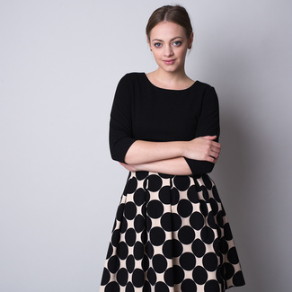 Short dress with polka dot pattern 11330, Willsoor