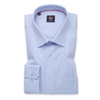 Men's classic shirt in light blue with fine pattern 11334, Willsoor