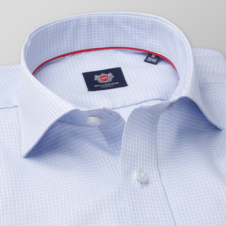 Men's Slim Fit shirt with fine check pattern 11365