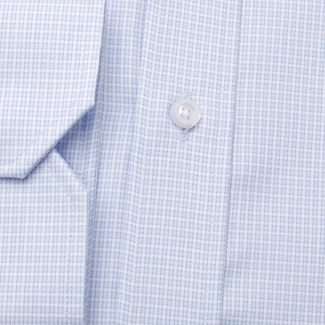 Men's classic shirt with fine check pattern 11366