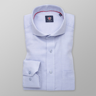 Classic men's shirt in pale blue with fine pattern 11374, Willsoor