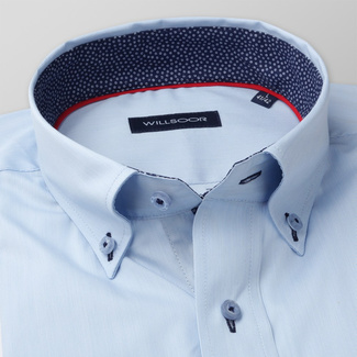 Classic men's shirt with fine pattern and contrast elements 11378, Willsoor