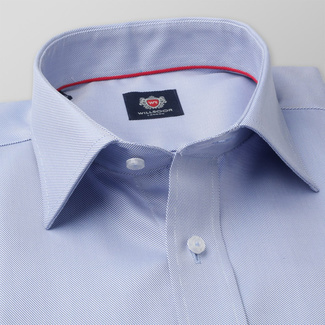 Men's classic shirt with fine striped pattern 11386, Willsoor