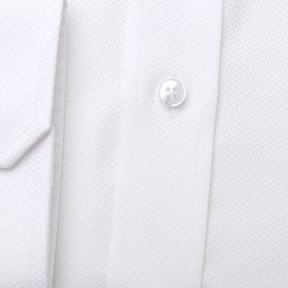 Classic men's shirt in white color with fine pattern 11396, Willsoor
