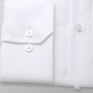 Men's Slim Fit shirt in white with smooth pattern 11397, Willsoor