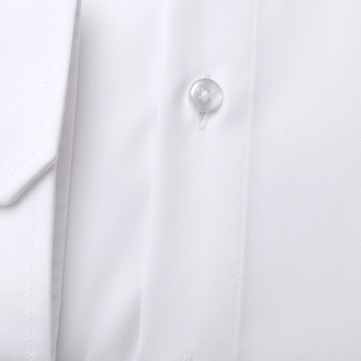 Classic men's shirt in white color with dark blue pattern 11400, Willsoor