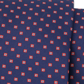 Classic tie with fine red pattern 11541, Willsoor