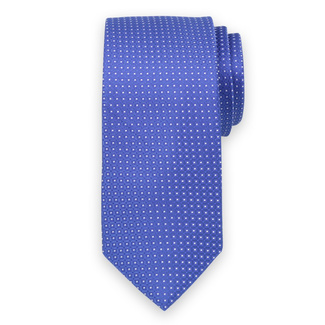 Classic tie in blue color with fine pattern 11543, Willsoor